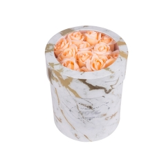 Luxury Paper Cylinder Round Flower Boxes